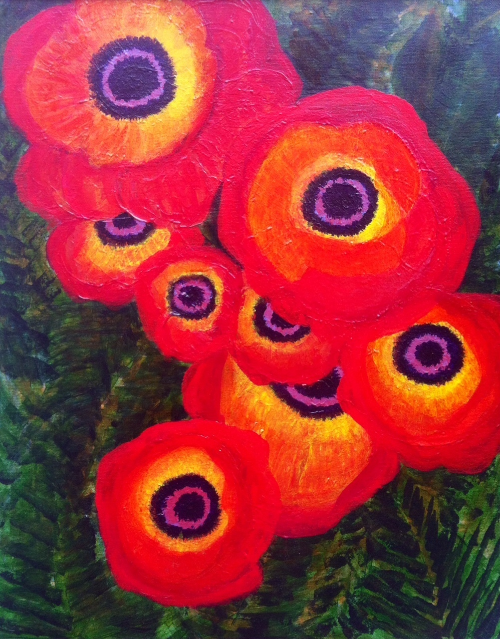 Poppies From the Garden 100