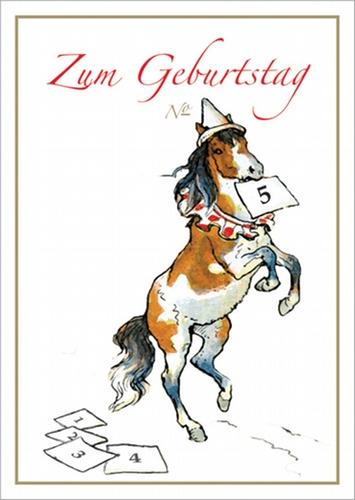 Geburtstagskarte Gluckwunsch Klappkarte Mit Pony Zirkus Pferd Zum