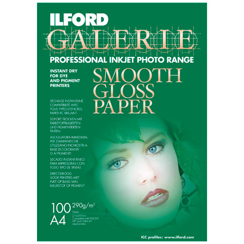 Ilford Galerie Smooth Gloss A4 100 Sheets