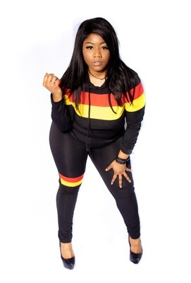 Sun beam multi-color two Piece tracksuits