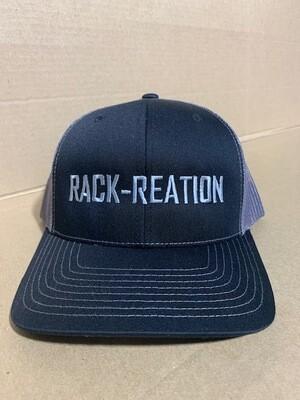 BLACK/CHARCOAL Hat Style 112 (Large Logo)-RRHAT112B/CHARLGLOGO