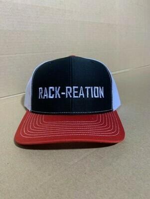 BLACK/RED/WHITE Hat Style 112 (Large Logo)-RRHAT112B/R/WLGLOGO