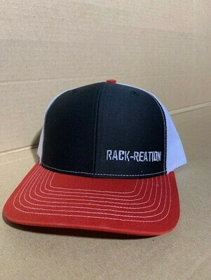BLACK/RED/WHITE Hat Style 112 (Small Logo)-RRHAT112B/R/WSMLOGO