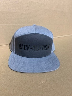 7 Panel Hat Charcoal Heather Style 257 (Large Logo)