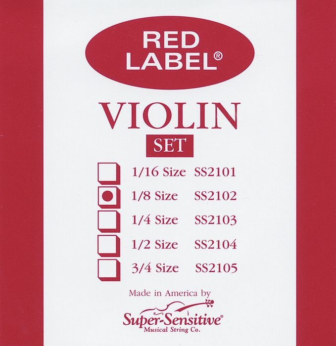 Red Label String Violin - Steel Core SS210
