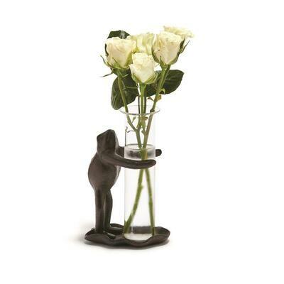 Lily Pad Frog Bud Vase