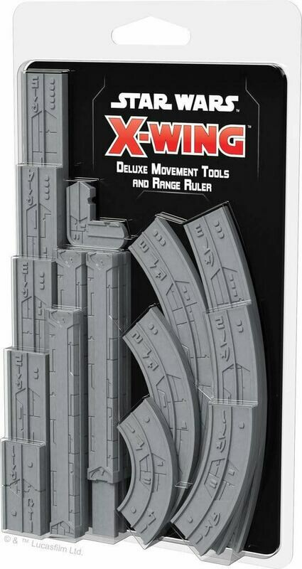 X-Wing Deluxe Movement Tools and range ruler