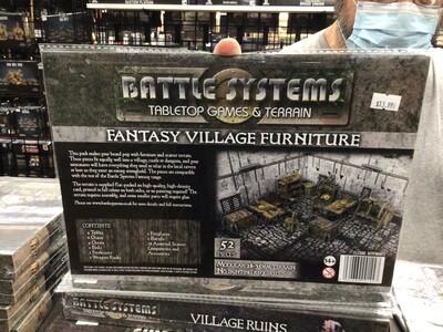 Battle Systems Fantasy Village Furniture