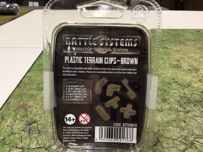 Battle Systems Plastic Terrain Clips - Brown