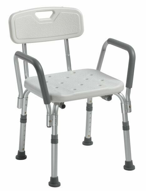 Drive Dlx Bath Bench W Back And D A Arms