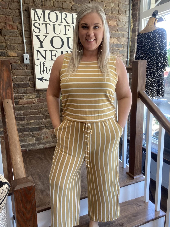 6254 Yellow Stripe Jumpsuit