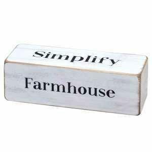Farmhouse Rotating Block