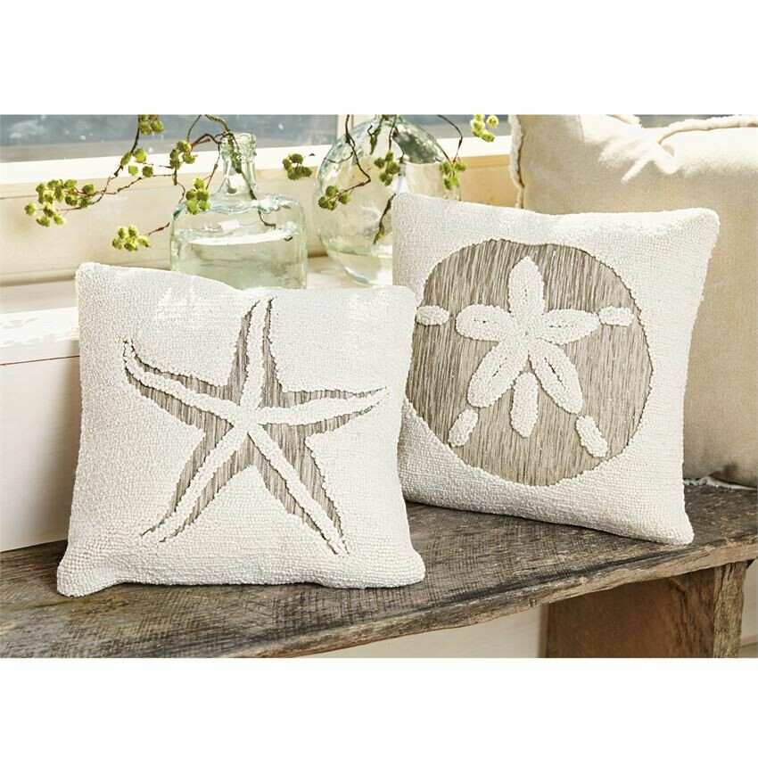 Hooked Shell Pillow