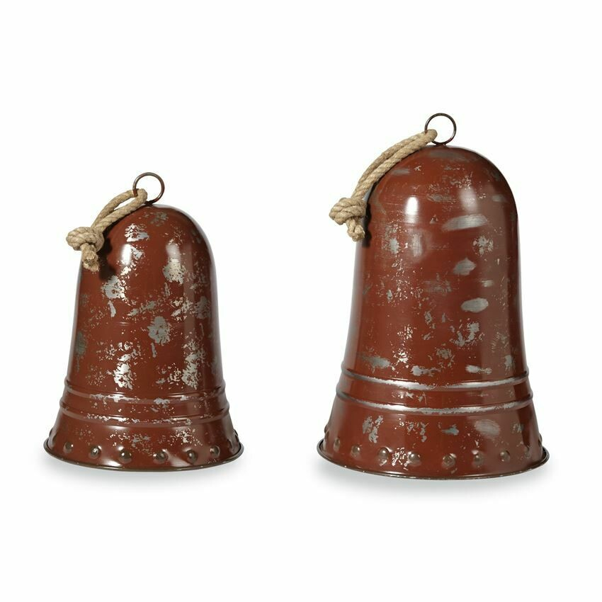 Red Distressed Bell Set