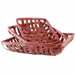 Red Tobacco Basket Set
