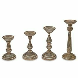 Rustic Fluted Tin Candlesticks