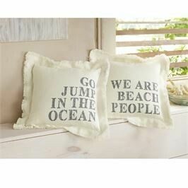 Square Frayed Beach Pillow
