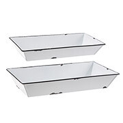 White Metal Trays