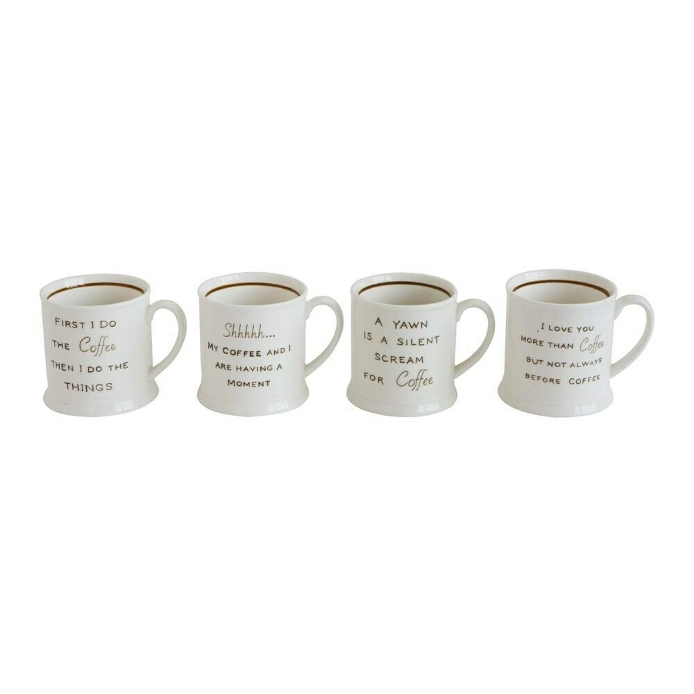 Stoneware Mug Coffee Saying