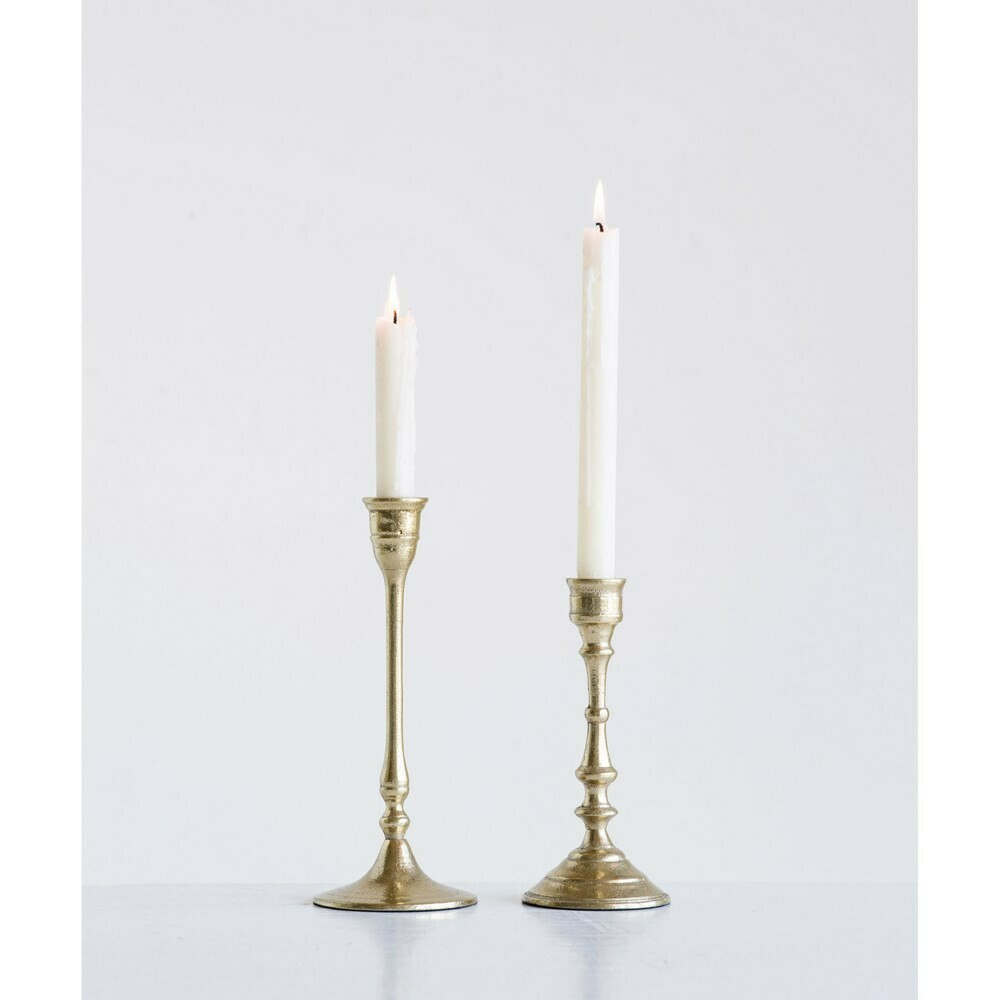 Taper Candle Holder Brass Finish