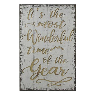 It's The Most Wonderful Time Wood Christmas Sign
