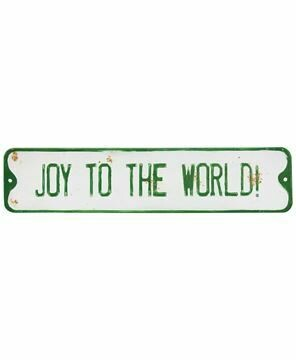 Joy to the world street sign