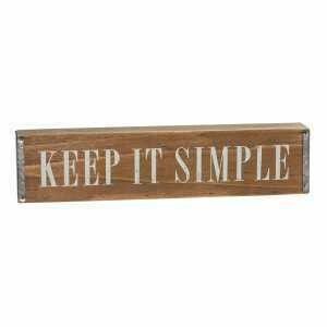 Wood Keep It Simple Sign