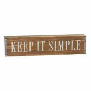 Wood Keep It Simple Sign