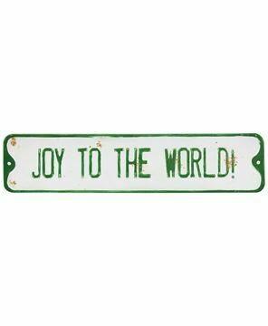 Joy to the world street sign