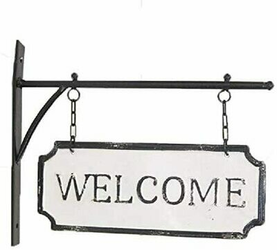 Metal Welcome Hanging Sign