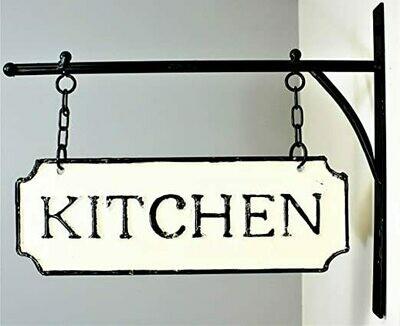 Metal Kitchen Hanging Sign