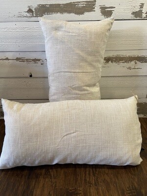 Cream Rectangle Pillows