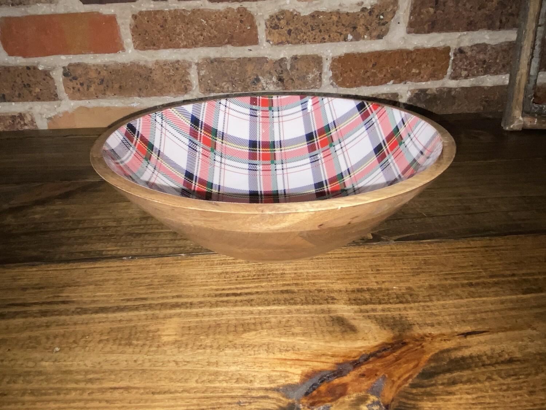 Tartan Wood Bowl