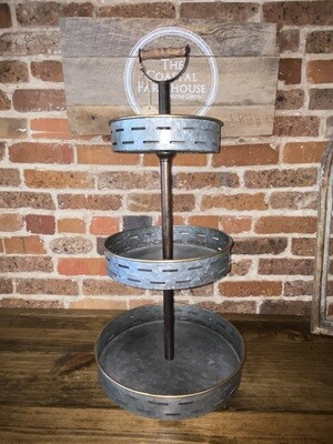 Three Tier Galvanized Stand