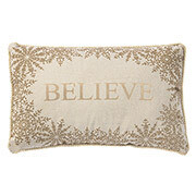 Tan And Gold Believe Pillows