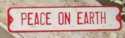 Peace on Earth Street Sign