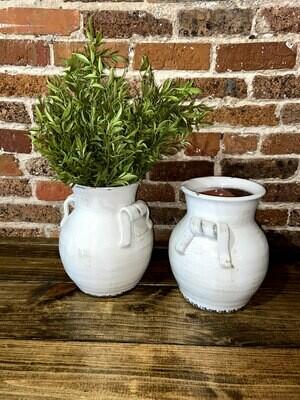 Cream Pottery Vase 11