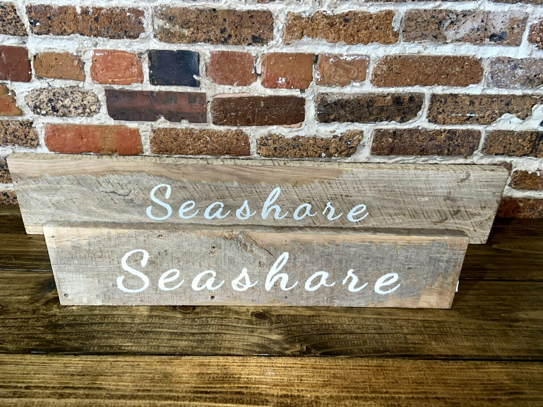 """""""Seashore"""" Barn Wood Sign"""