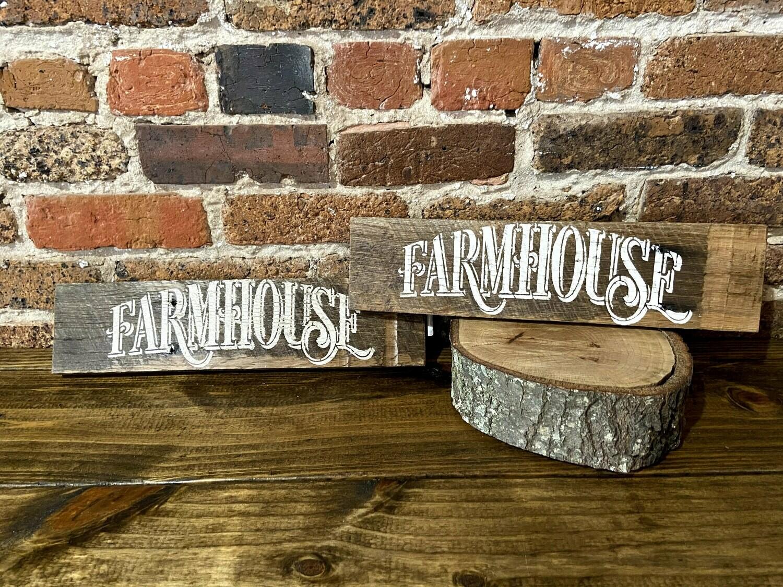 """""""Farmhouse"""" Barn Wood Sign"""