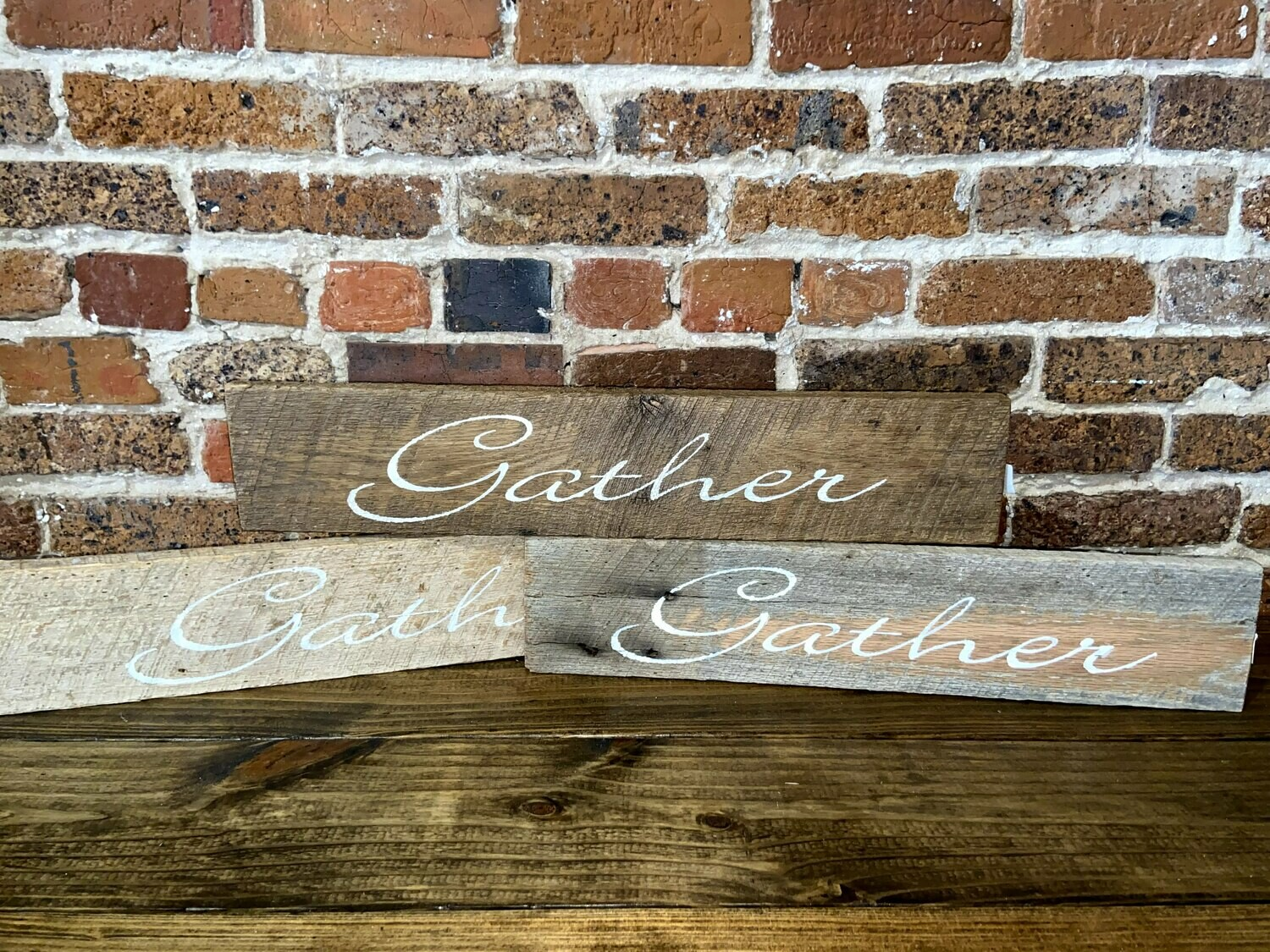 """Gather"" Barn Wood Sign"