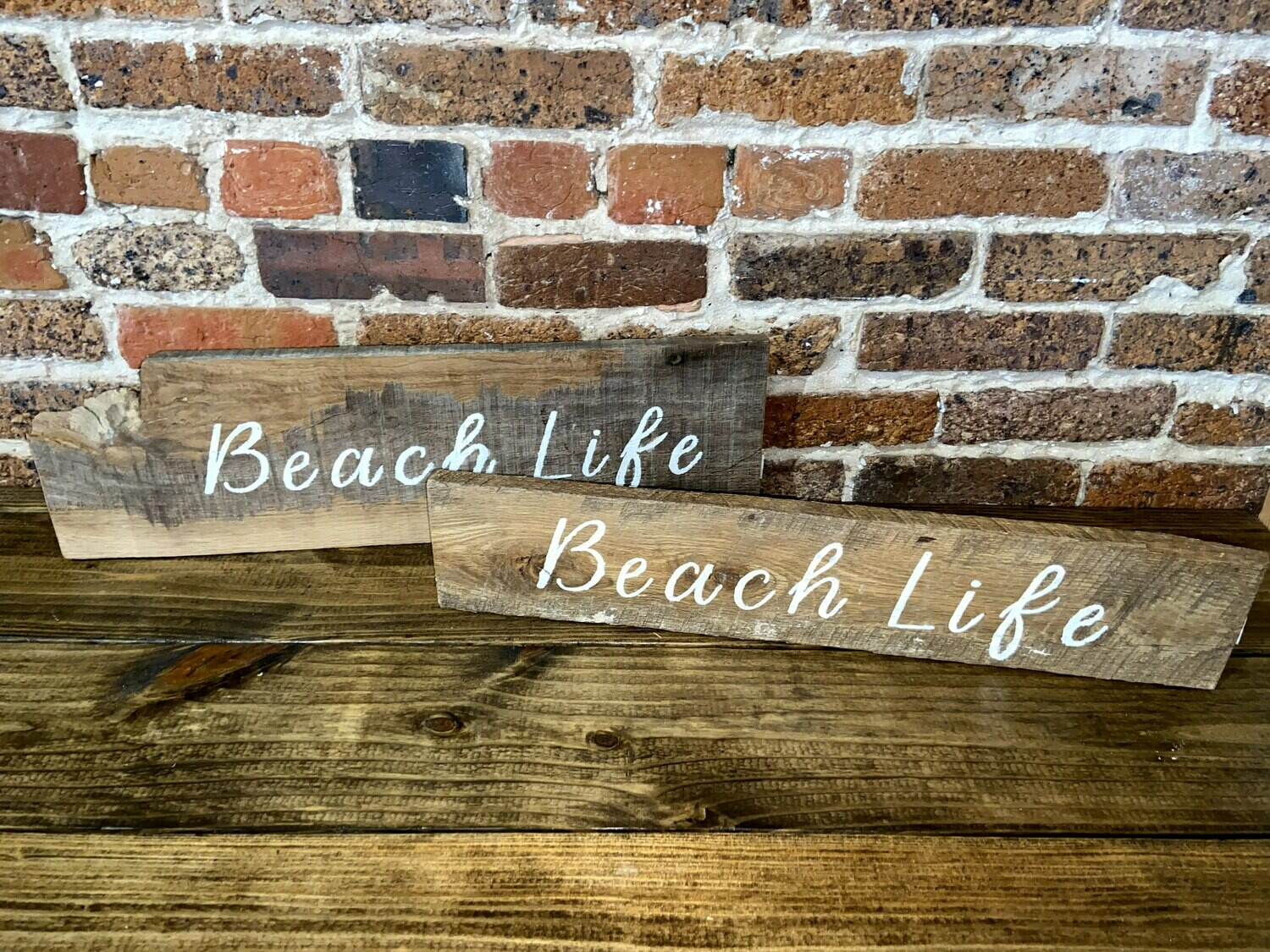 """Beach Life"" Barn Wood Sign"