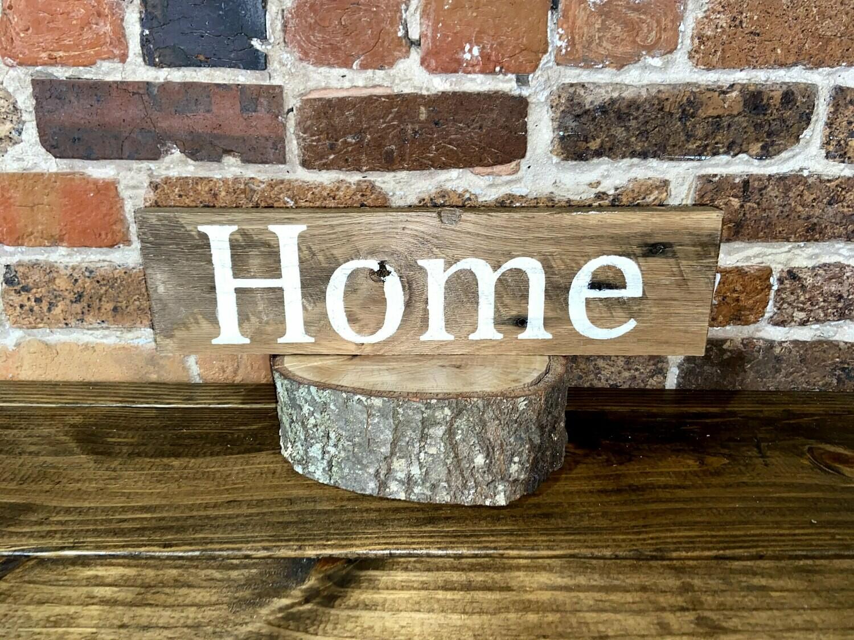 """Home"" Barn Wood Sign"