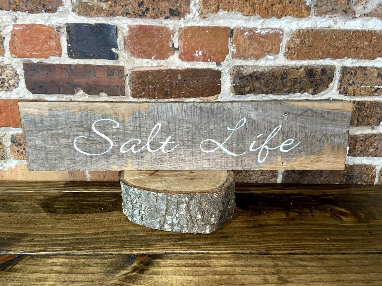 """Salt Life"" Barn Wood Sign"