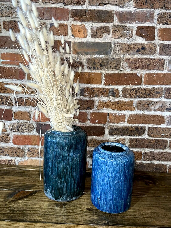 Dark Blue Pottery Vase