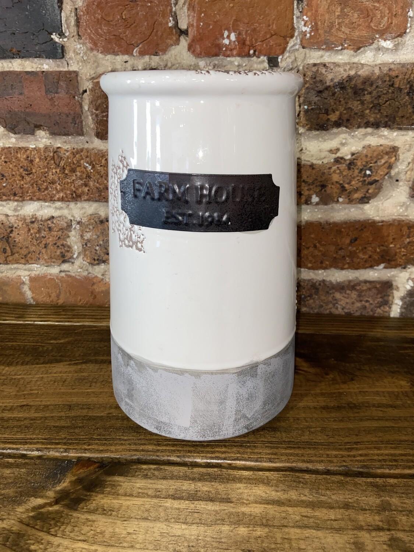 """""""Farmhouse"""" Ceramic Vase"""
