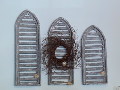 Gray Arched Shutter