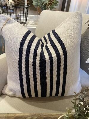 Navy Stripe Pillow