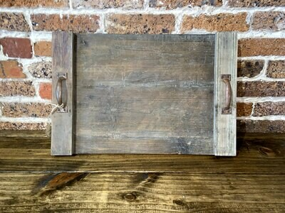 Rectangle Handled Wood Tray