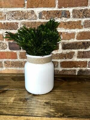 White Ceramic Vase With Rope