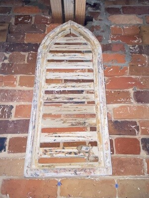 White Chippy Arched Shutter